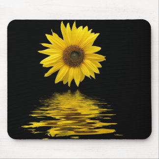 Floating sunflower mouse mat