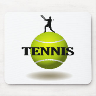 Floating Tennis Badge Mouse Pad