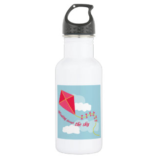 Floating Through The Sky 532 Ml Water Bottle