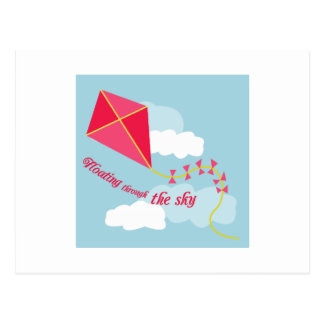 Floating Through The Sky Postcard