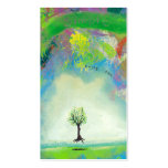 Floating tree colourful modern art In Motion Pack Of Standard Business Cards