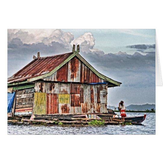Floating Village, Tempe Lake Card
