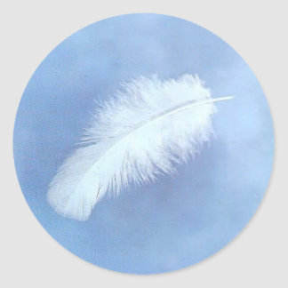 Floating white feather Sticker s