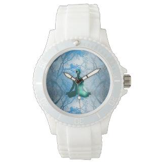 Floating Yogi in the Trees (blue) Wrist Watch