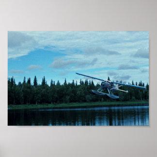 Floatplane Landing Poster