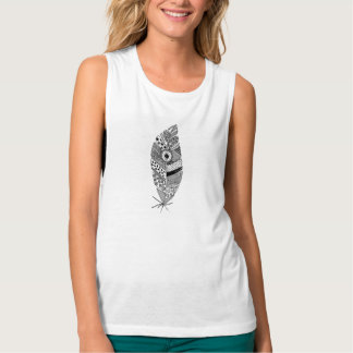 Floaty feather tank top