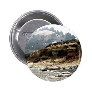 Flock 6 Cm Round Badge