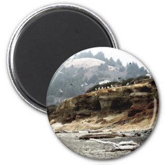 Flock 6 Cm Round Magnet