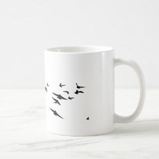 Flock Birds Basic White Mug