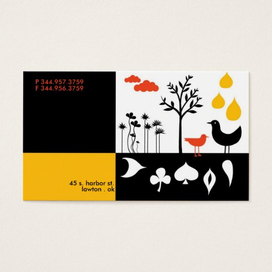 Flock Drops Business Card