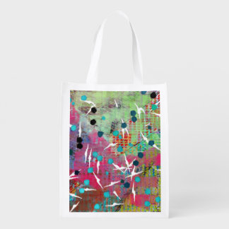 Flock of Abstract Birds Reusable Grocery Bag