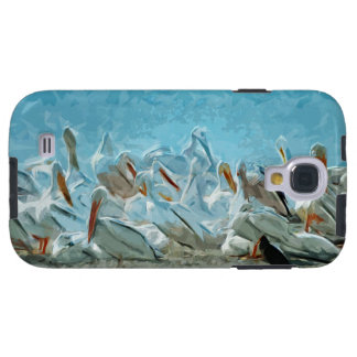 Flock of American White Pelicans and Friend Galaxy S4 Case