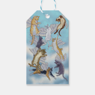 Flock of Angel Cats by Rachel Armington Gift Tags
