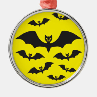 Flock of bats against the Moon. Christmas Ornament