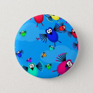 Flock of Birds 6 Cm Round Badge