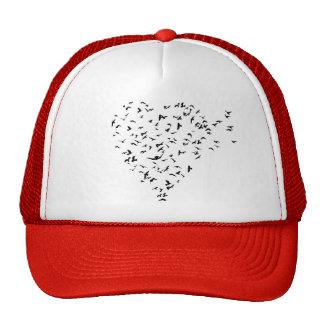 Flock of Birds Love Heart Cap