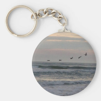 Flock of Birds over the Atlantic Keychains