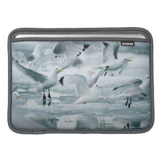 Flock of Black-legged Kittiwakes Sleeve For MacBook Air