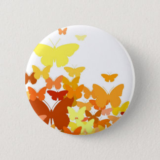 Flock of Butterflies 6 Cm Round Badge