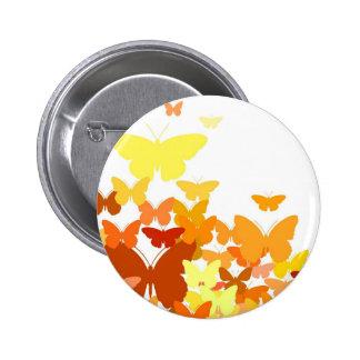Flock of Butterflies 6 Cm Round Badge