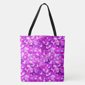 Flock of Butterflies, Amethyst, Violet and Orchid Tote Bag