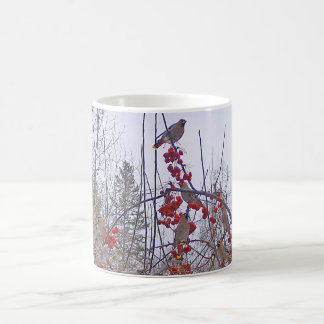 Flock of Cedar Waxwings Mug