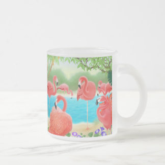 Flock of Flamingos Glass Mug