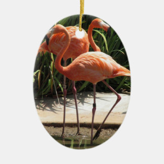 Flock of Flamingos Ornament