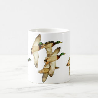 Flock of Mallards in Flights- Ducks Coffee Mug