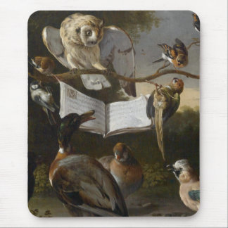Flock of musical birds painting mouse pad