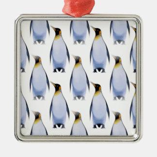 Flock of Penguins Christmas Ornament