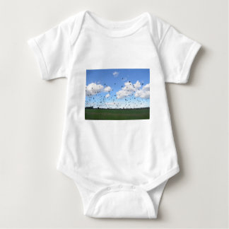 Flock Of Pigeons Baby Bodysuit