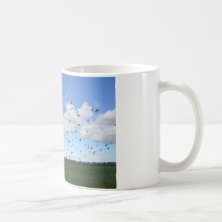 Flock Of Pigeons Basic White Mug