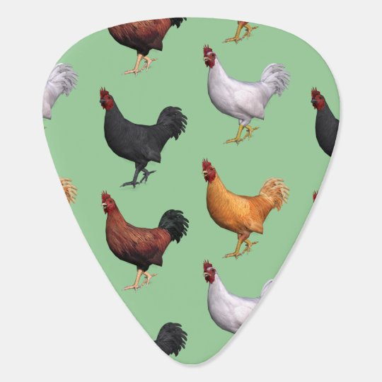Flock Of Roosters Guitar Pick