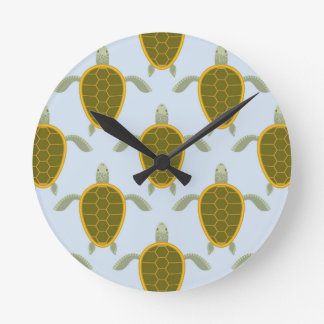 Flock Of Sea Turtles Pattern Clocks