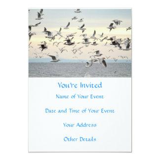 Flock of Seagulls Photo 13 Cm X 18 Cm Invitation Card