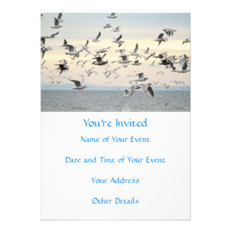 Flock of Seagulls Photo Invite