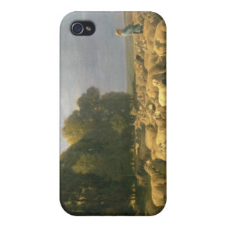Flock of Sheep in a Landscape iPhone 4/4S Covers