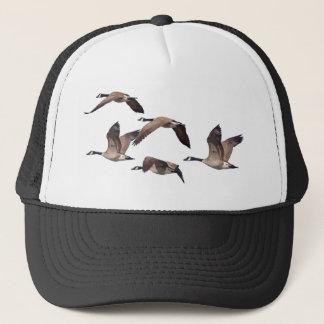 Flock of wild geese trucker hat