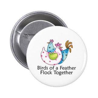 Flock Together 6 Cm Round Badge
