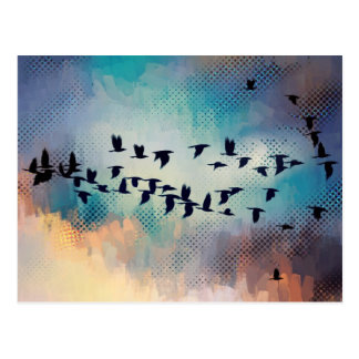 Flock Together Postcard