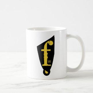 Flocked Media Logo & Text Mug
