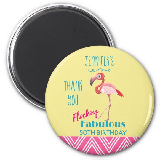 Flocking Fabulous Pun w/ Pink Flamingo Thank You