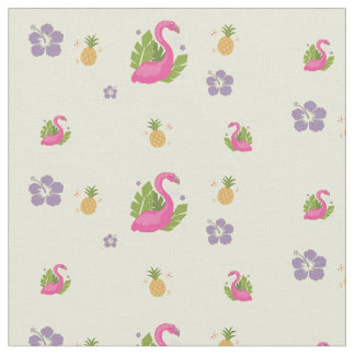 Flocking Flamingo Fabric