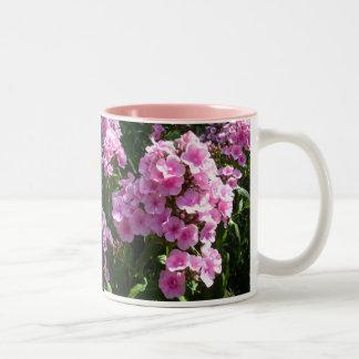 Flocks of Pink Phlox Two-Tone Mug