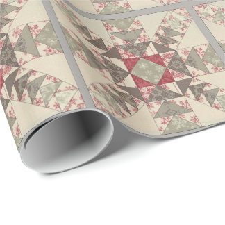 Flocons de Neige Light Wrapping Paper