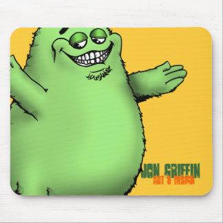 FloGrimace-Green Jon Griffin Art Design Mouse Mat