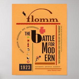 flomm the BATTLE for MODern Sachplakat Poster