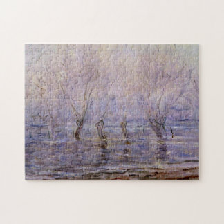 Flood at Giverny Monet Fine Art Jigsaw Puzzle