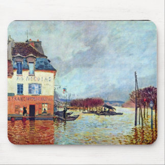 Flood at Port Manly by Alfred Sisley Mouse Pads